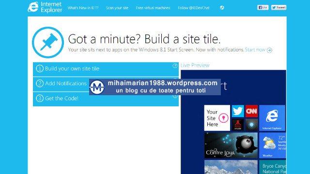 Folosesti Internet Explorer? Versiunea 11 e disponibila pentru download!